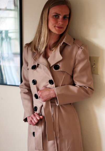 Burberry Inspired Trench Coat Completed Sew Well
