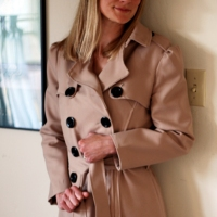 Burberry-Inspired Trench Coat:  Completed!