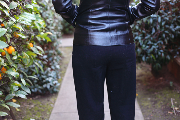 Black Wool Crepe Pants