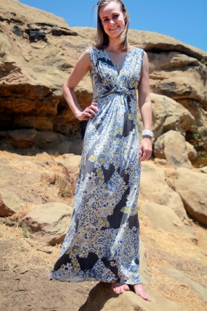 Sew Well - Twist Maxi Dress in Silk Jersey