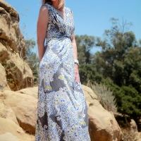 Twisted Silk Jersey Maxi Dress