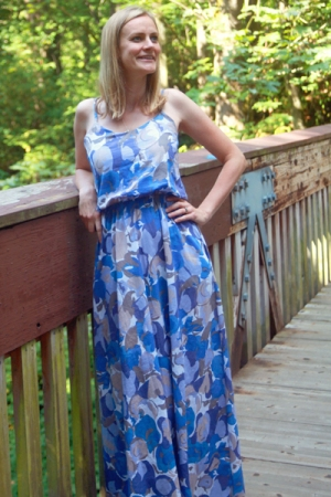 Sew Well - Blooming Blues Saltspring Maxi Dress