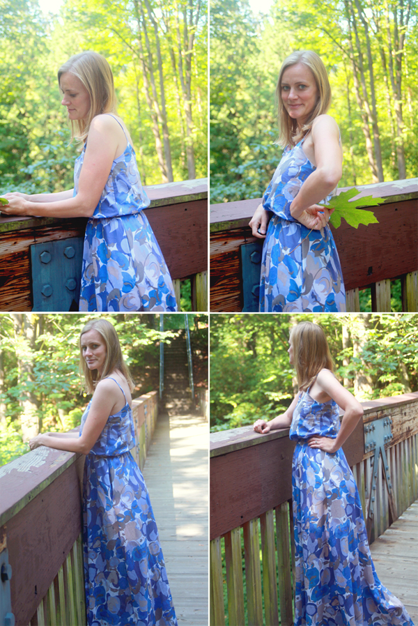 blue cotton voile dress