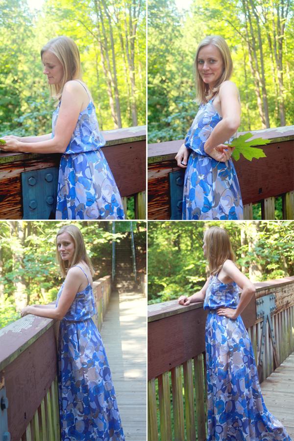 blue cotton voile dress