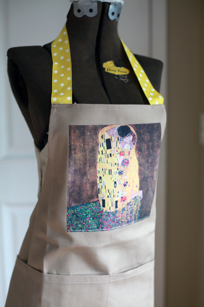 Artful Apron - The Kiss - By Goodbye Valentino