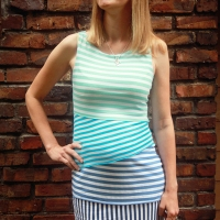 Ombre Striped Jersey Dress