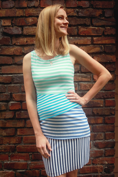 Sew Well - Ombre Striped Shingle Dress