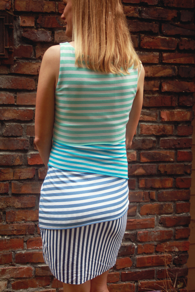 striped jersey dress Mood Fabrics