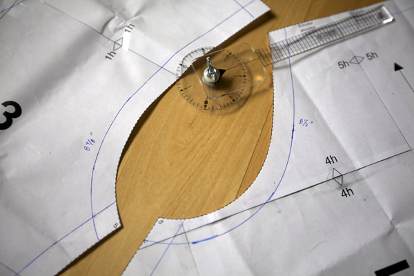 Imperial Measuring Wheel for Sewing from SA Curve