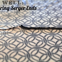 Securing the End of a Serged Seam