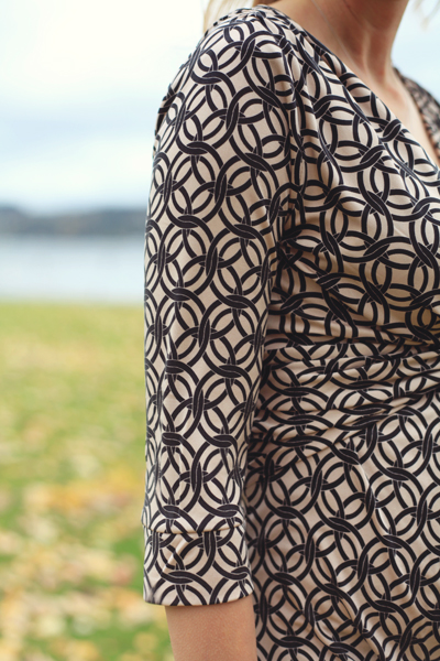 Sew Well's BurdaStyle Twisted Dress in Mood Fabrics' Silk Jersey