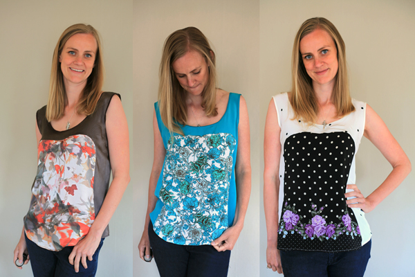 Polly Tops made with Mood Fabrics silk - Sew Well