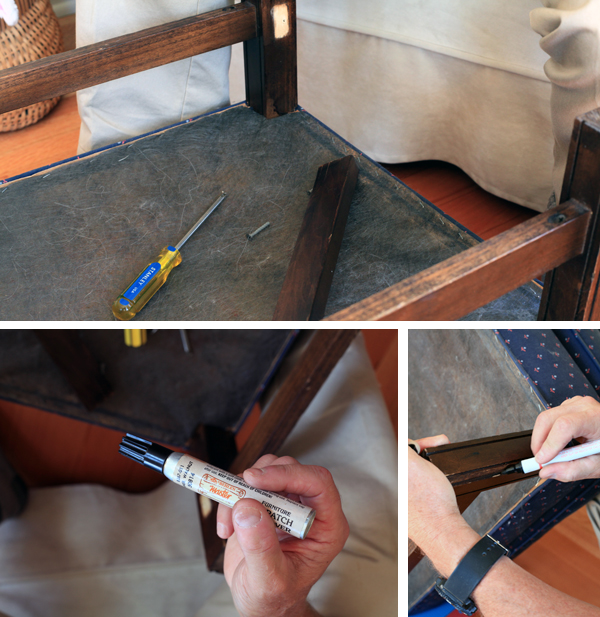 Sew Well - Ottoman reupholstery project with Mood Fabrics