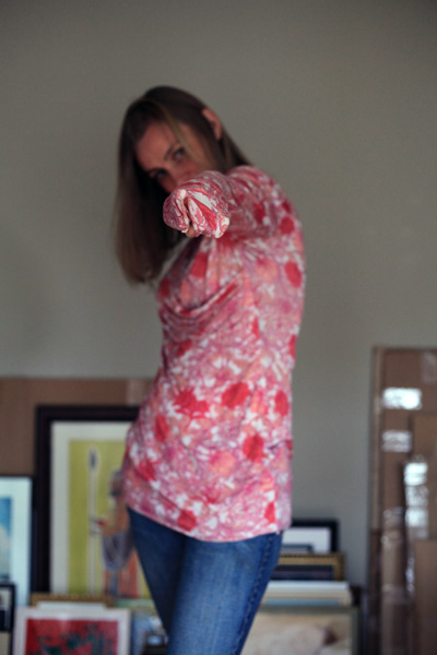 Sew Well - Draped BurdaStyle Tee in Silk-Cotton Jersey from #MoodFabrics