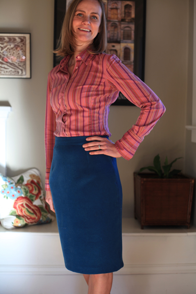 Sew Well - BurdaStyle Jenny Skirt in double-faced wool from #MoodFabrics