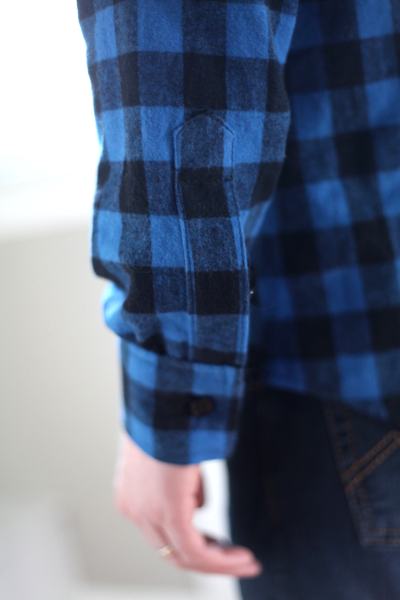 Sew Well - Butterick 4712 in blue plaid flannel from #MoodFabrics
