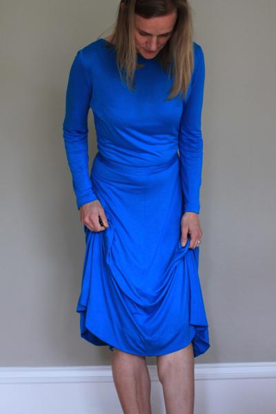 Sew Well - Vogue 1548 wrap dress made from #moodfabrics silk jersey