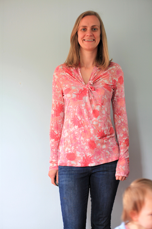 Sew Well - BurdaStyle Wrap Top Refashioned