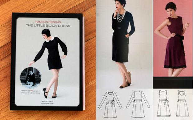 Sew Well + Little Black Dress Book's Chanel Dress - Raspberry Roses in #moodfabrics Neoprene