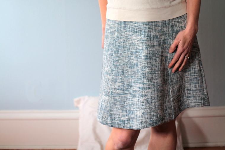 Sew Well - An A-Line Skirt in an Oscar de la Renta Woven