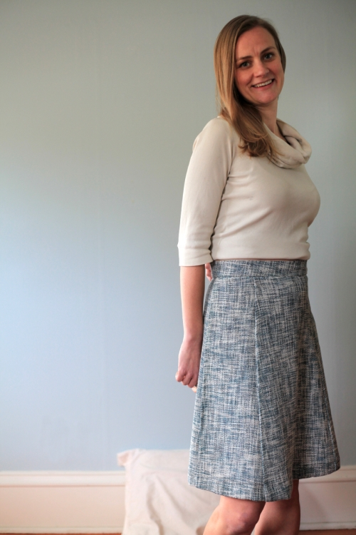 Sew Well - An A-Line Skirt in an Oscar de la Renta Woven