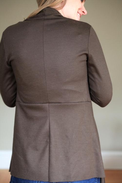 Sew Well - Style Arc Nina Cardigan in Mood Fabrics Italian Wool Jersey
