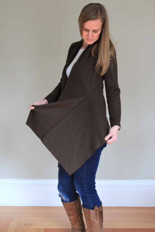 Sew Well - Style Arc Nina Cardigan in Mood Fabrics Italian Wool Jersey